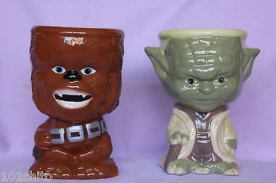 Galerie Star Wars Ceramic Goblets of Chewbacca and Yoda