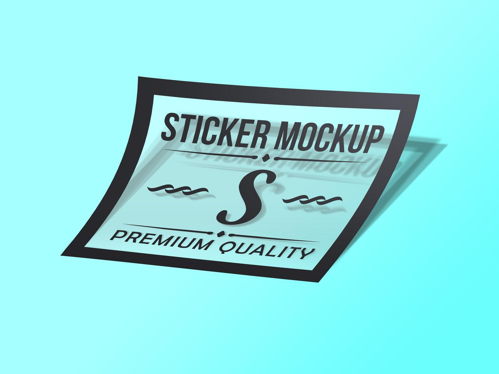 Free Photorealistic Transparent Sticker Mockup Psd Good Mockups Transparent Stickers Mockup Psd Mockup