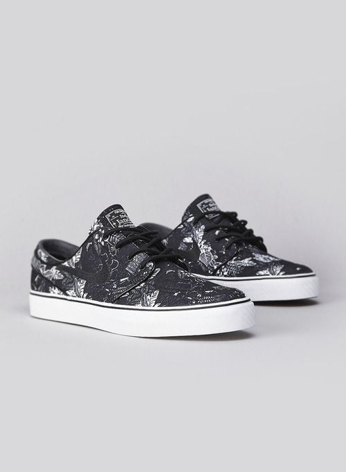 NIKE SB Zoom Stefan Janoski Canvas RM Black Shoes BLKBL
