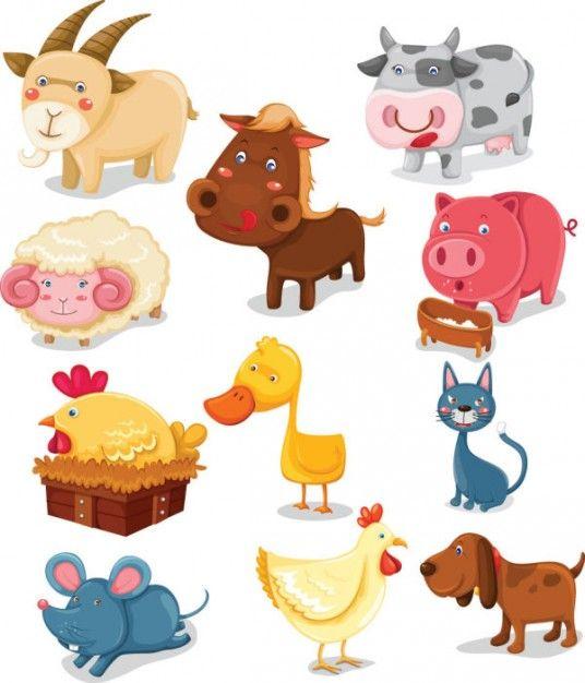 Freepik Graphic Resources For Everyone Cartoons Vector Cartoon Animals Farm Animals