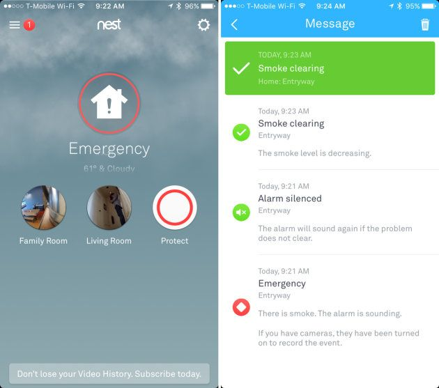 Image result for nest mobile app screen