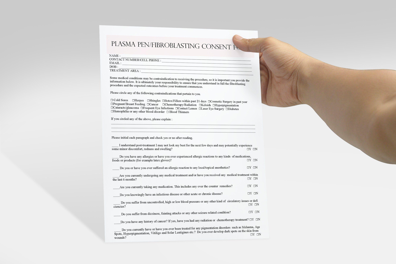 Fibroblast Client Forms Fibroblast Consent Form Plasma Pen Pre And Post Care Instructions Editable Pdf Consent Forms Pre And Post Microblading
