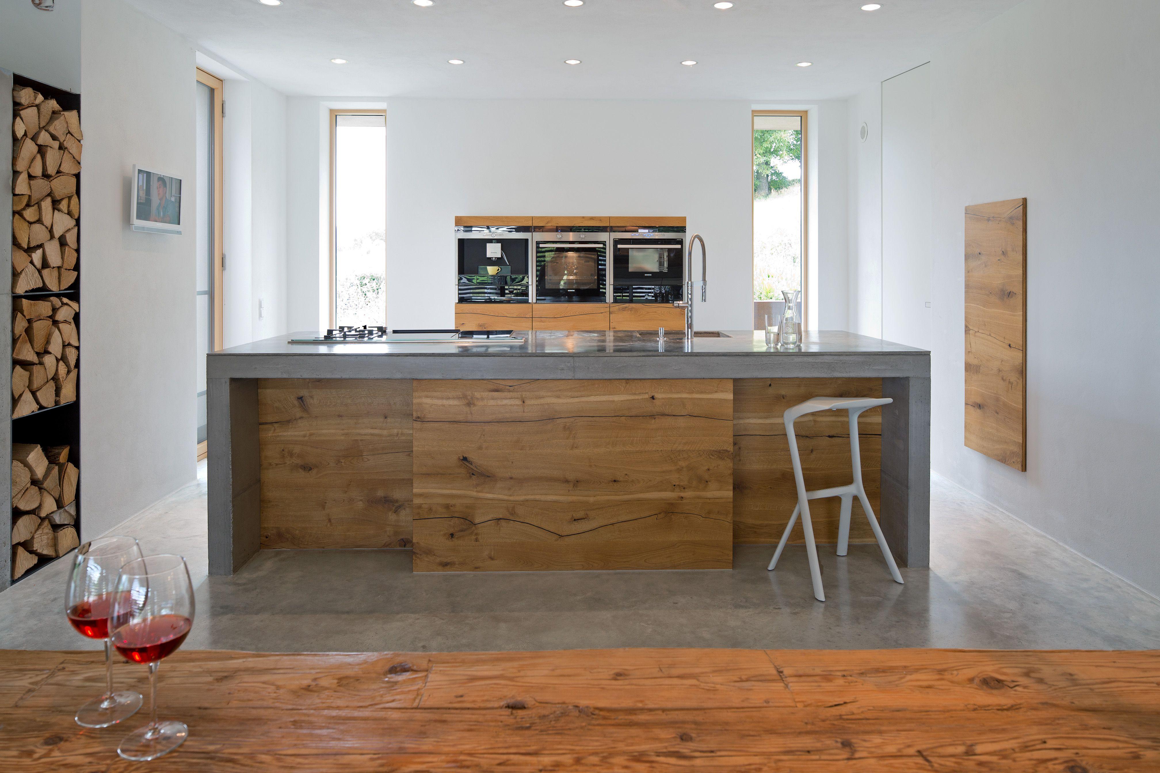 Betonboden und Küche Wohnbeton Im Innenbereich ermöglicht Beton ...