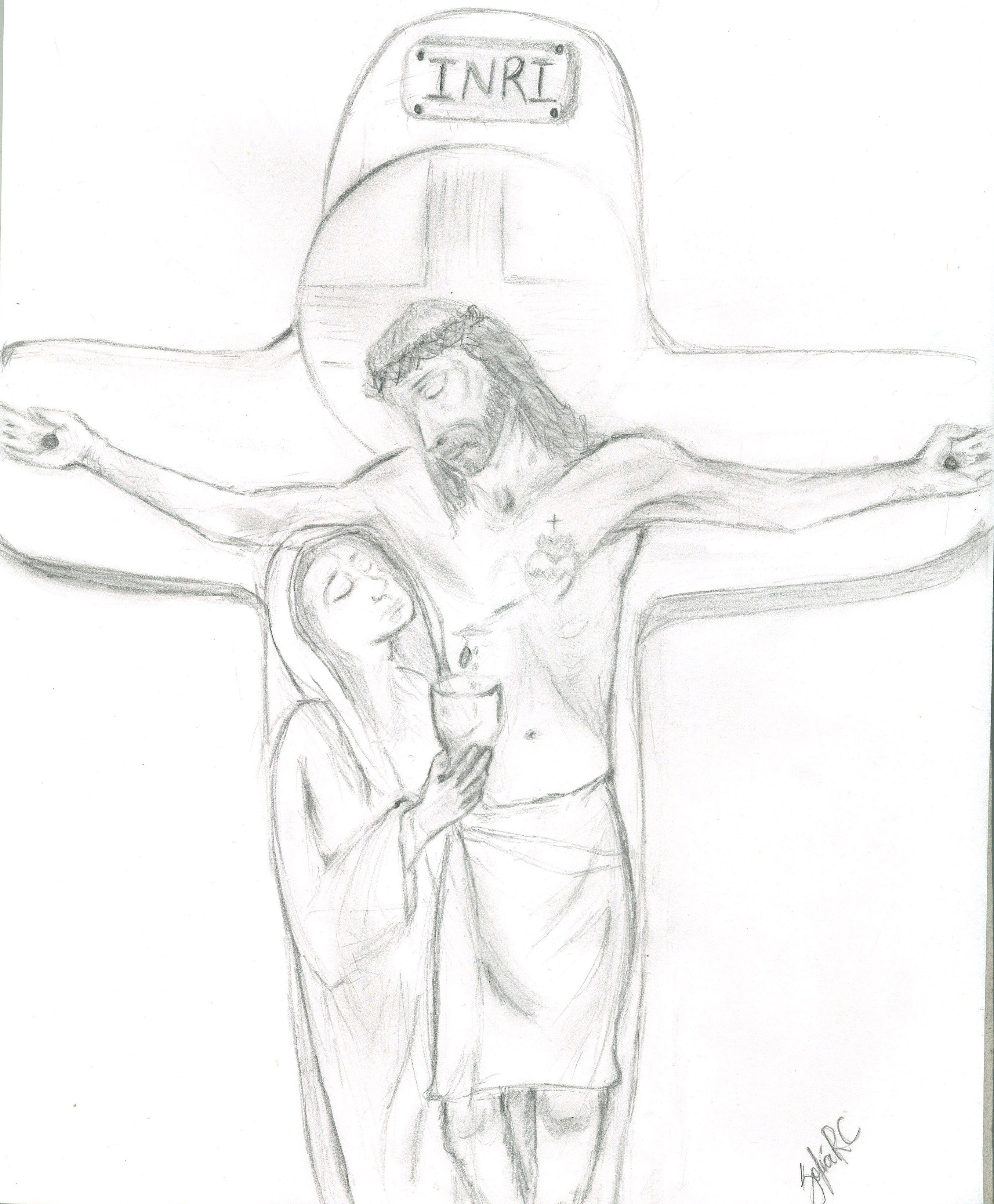 Mi espiritualidad en imagen: Cristo Rey, la Cruz, el Sagrado Corazon, Maria a los pies de Jesus, recibiendo la Sangre Preciosa de Cristo como intercesora de las almas...