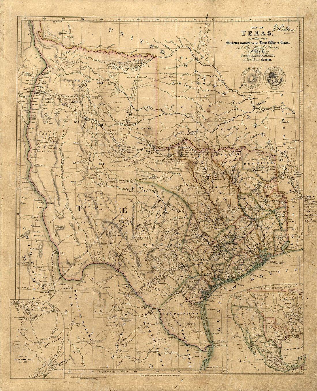 Old Texas Wall Map Vintage Historical Map Antique Restoration - Restoration hardware paris map