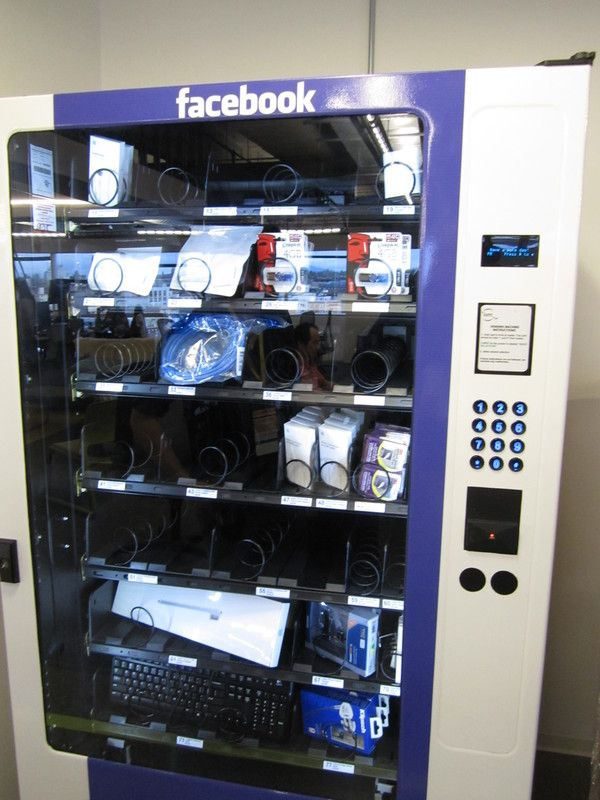 Vending Machine In Seattle Facebook Office I Wonder What Was In