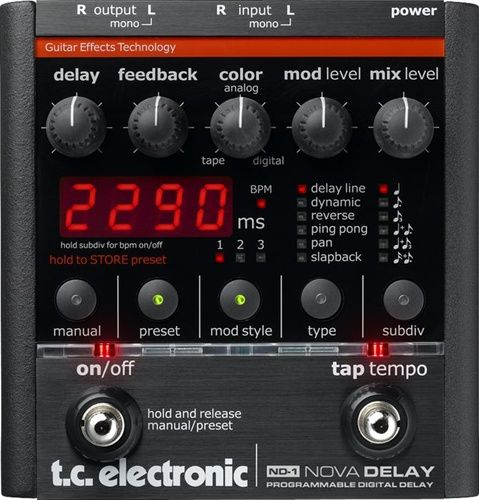 tc electronic nd 1 nova delay guitar effects pedal wish list guitar effects pedals guitar. Black Bedroom Furniture Sets. Home Design Ideas