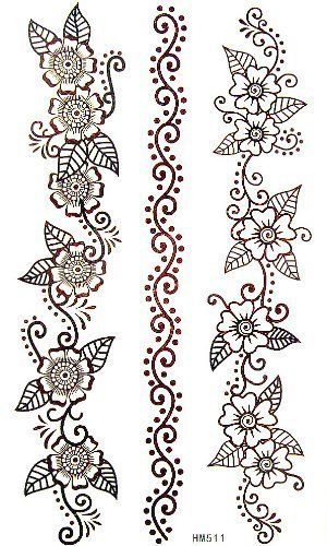 Kinghorse Fashionable Temporary Tattoo For Women And Youth