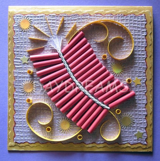 Ideas Of Making Cards Part - 47: Diwali Fire Cracker Card | 15+ Diwali Card Making Ideas For Kids - Kandils,