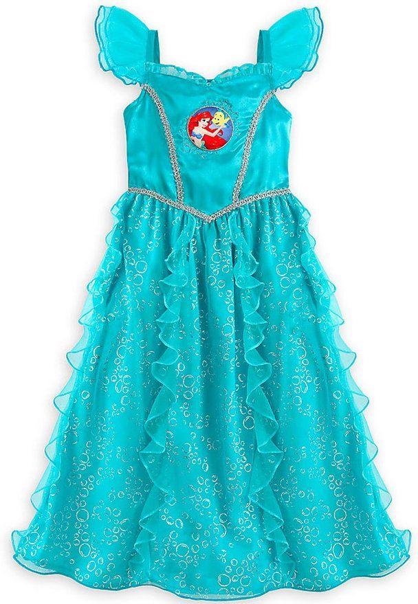 Disney Store Girl s Ariel Nightgown Ariel Sleepwear (4)  eed1b3c2f