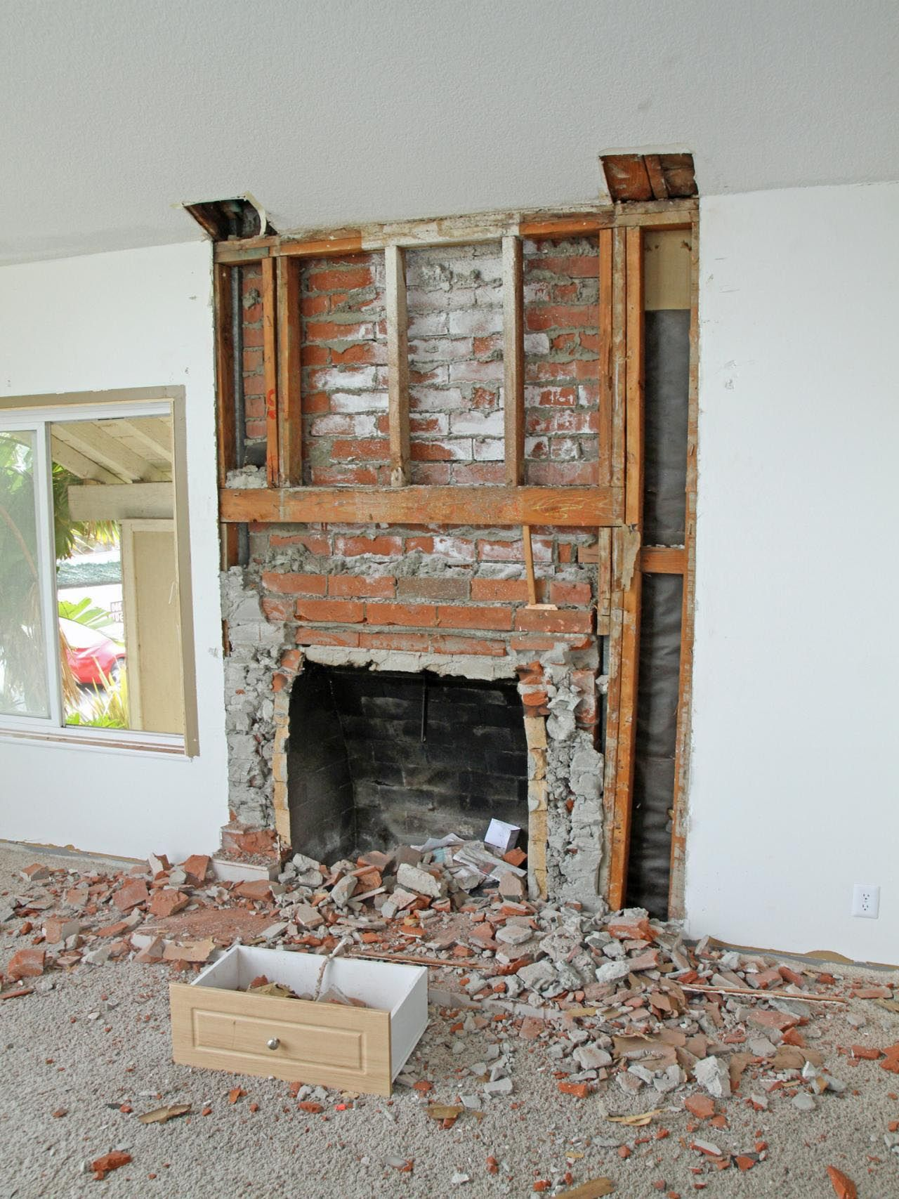 Remodel Brick Fireplace Before And After Flip Or Flop Brick Fireplace Fireplace Remodel
