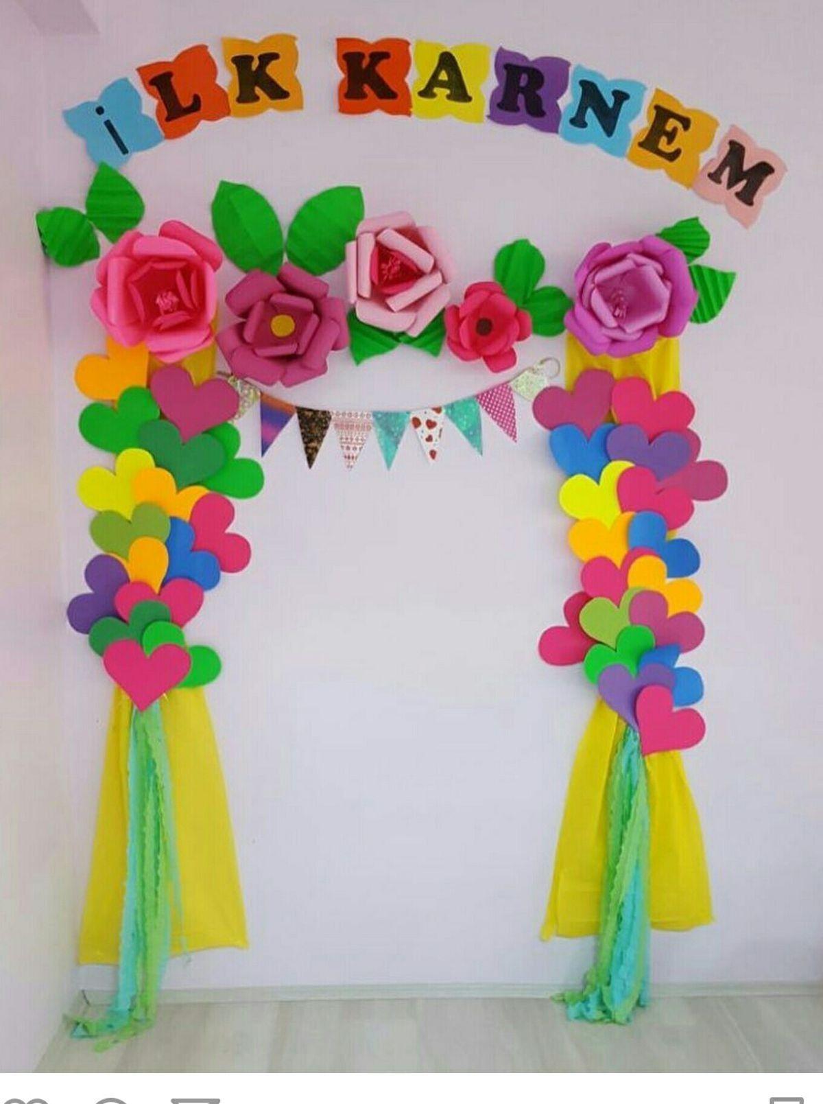 Primavera pre school work ana okulu al malar for Puertas decoradas para el 10 de mayo