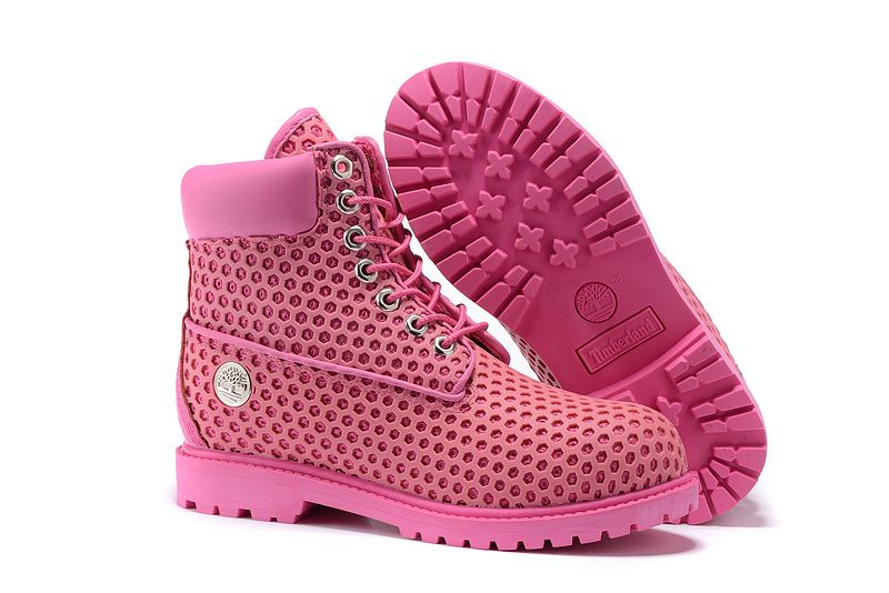 a14324b0a1ed6 Timberland 6 Inch Metal Logo Nest New Boots Dark Pink For Women ...