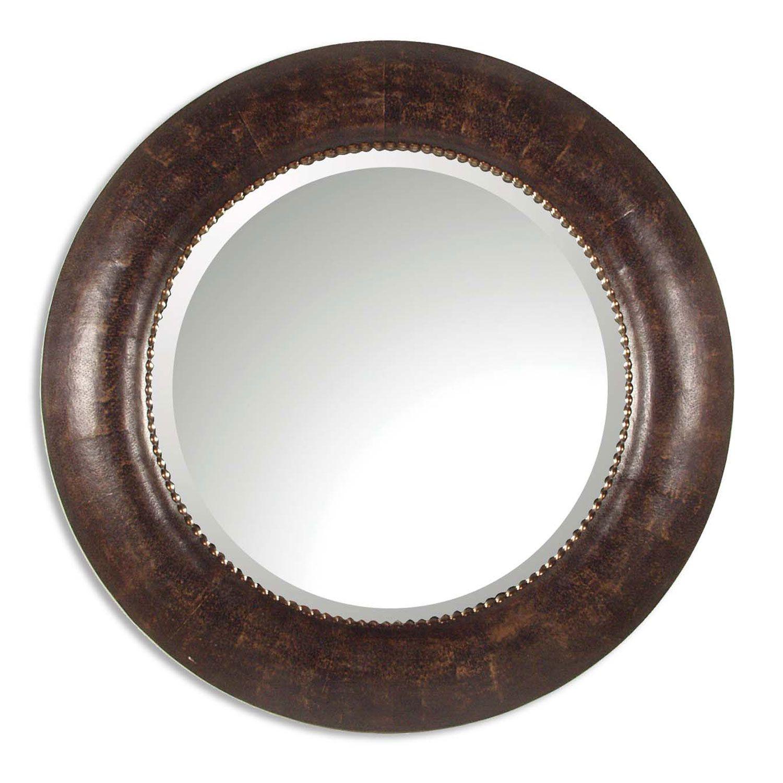 Leonzio Round Mirror Uttermost Round Mirrors Home Decor