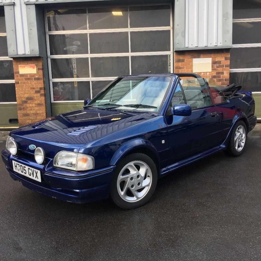 eBay: Ford Escort XR3i Cabriolet SE500 Blue mk4 RS Turbo Styling ...