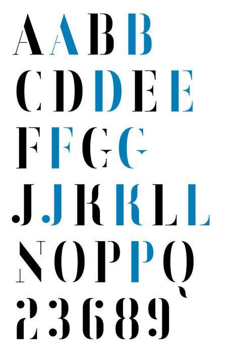 Typeface by Matt Willey for ESPN  | Typography | Stencil