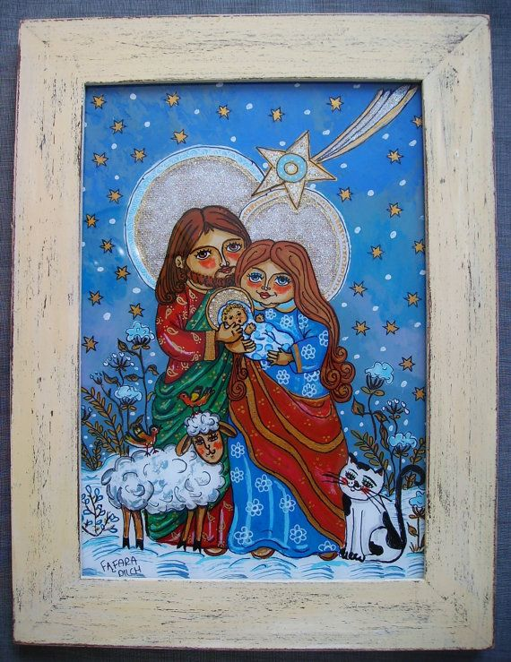 The Holy Family And The Star Art Decoration Wall