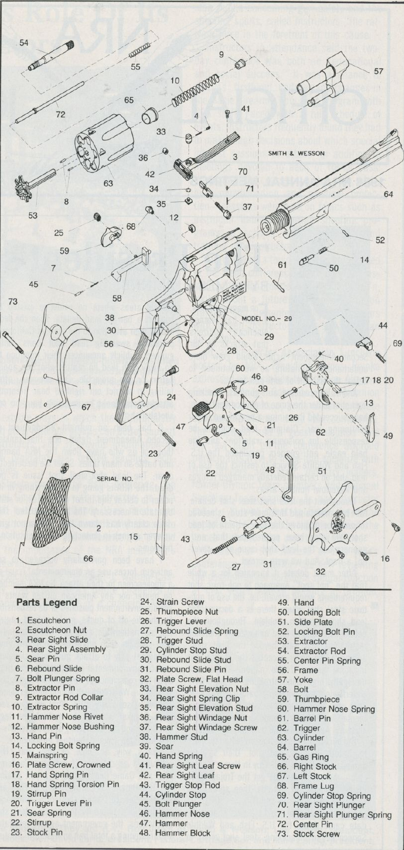 medium resolution of smith wesson model 29 exploded view exploded view handgun revolvers firearms