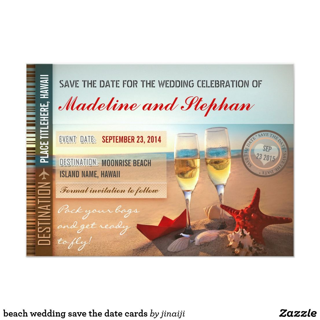 beach wedding save the date cards Wedding