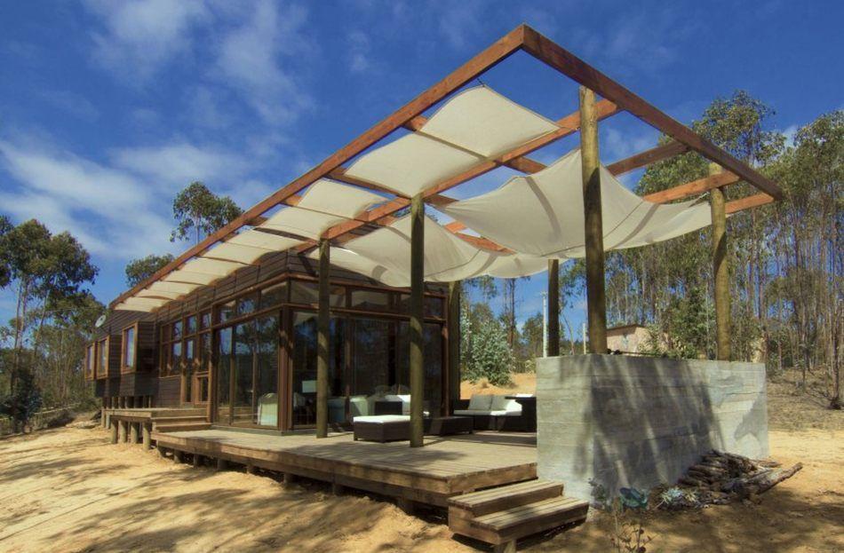 Splendide maison bois contemporaine sur pilotis au Chili casas