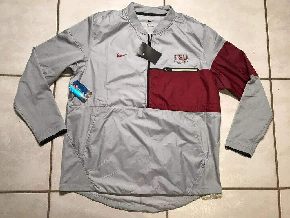 047c4bb7 Details about NWT NIKE Florida State Seminoles GRAY 1/2 Zip Jacket ...