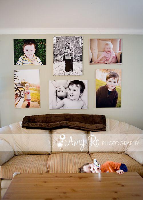 """Valokuva canvakset ovat hyvä vaihtoehto toteuttaa taulut omista kuvista. On kuitenkin hyvä muistaa sääntö """"bigger is better"""". Liian pieni canvas yksinäisenä isolla seinällä ei luo tyylikästä ilmettä. Vaihtoehtoisesti sommittele useampia canvaksia seinälle."""