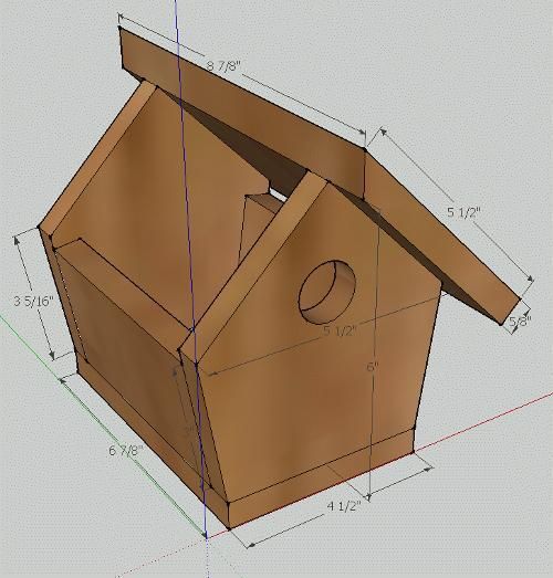 Simple Picket Fence: Simple Birdhouse Built From A Cedar Fence Picket
