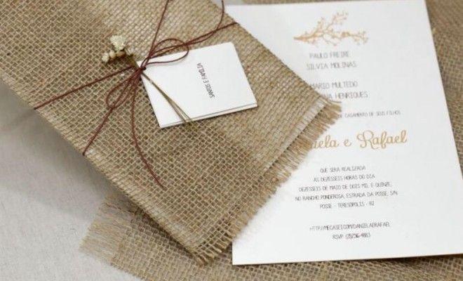 10 ideias de convites para casamento rústico