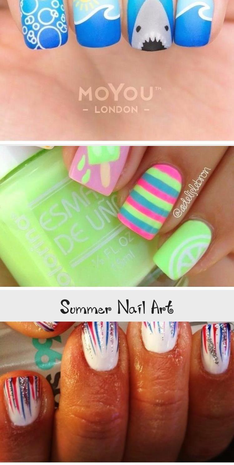 Summer Nail Art Nail Art In 2020 Nail Art Summer Summer Nails Nail Polish