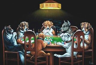 Poker Game Dogs Playing Poker Velvet Painting Dogs Playing Pool