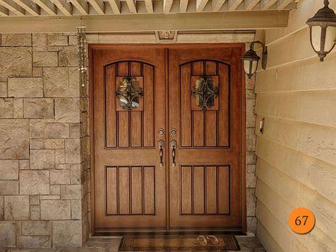 Exterior Double Entry Doors Fiberglass Double Steel Doors In 2018