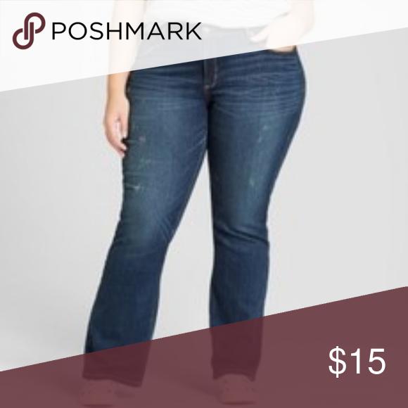 8a2b0310924 Women s Plus Size Skinny Bootcut Jeans Distressed Women s Plus Size Skinny Bootcut  Jeans - Universal Thread Medium Wash distressed 24W Universal Thread ...