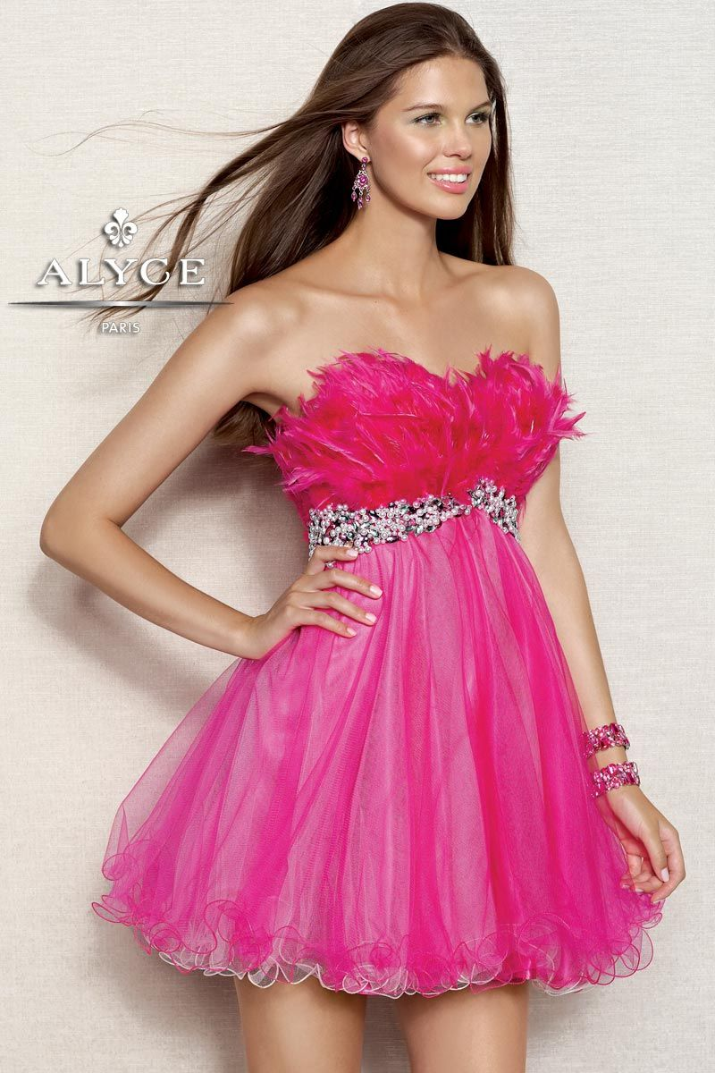 Homecoming DressesSweet 16 Dresses by Alyce Paris4305 Feathered ...