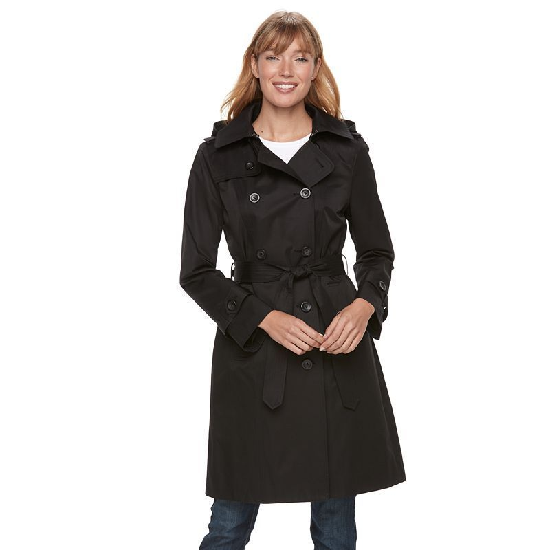 b6809d68194 Women s TOWER by London Fog Hooded Trench Coat