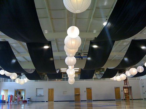 Ceiling Drape View From The End Of Gym Black Fabric D Flickr