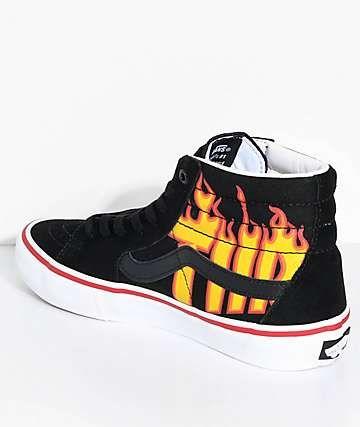 04ddb179fef Vans x Thrasher Sk8-Hi Pro Black Skate Shoes