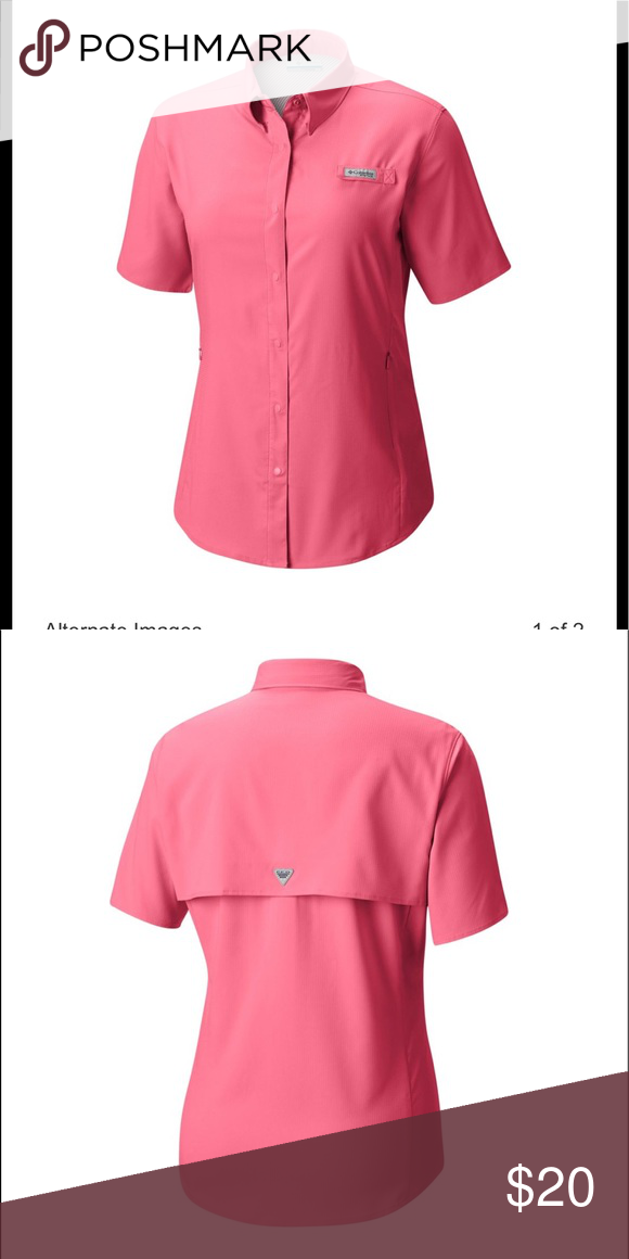f4a54bf7 Columbia WOMEN PFG TAMIAMI II SHORT SLEEVE SHIRT Columbia WOMEN PFG TAMIAMI  II SHORT SLEEVE SHIRT the color is (orange/salmon) very comfy for the  sports ...