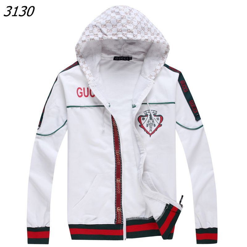 white gucci zip up hoodie aka trend setter white. Black Bedroom Furniture Sets. Home Design Ideas