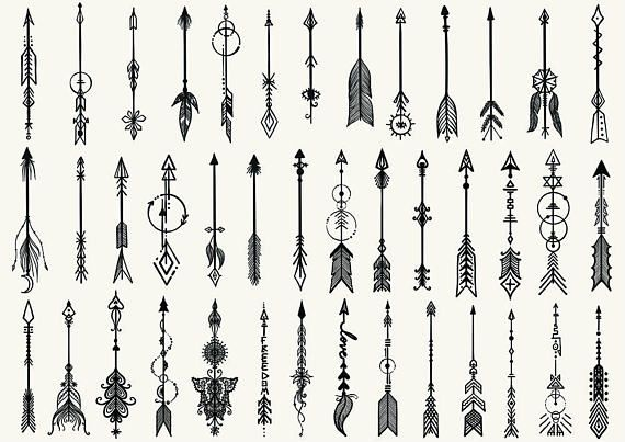 41 Hand Drawn Boho Arrows For Tattoo And Design Element Products