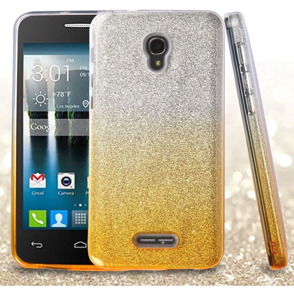 MYBAT Full Glitter Alcatel FIERCE 4 Case - Gold Gradient