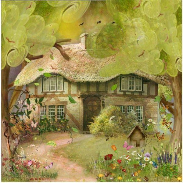 Resultado De Imagen Fantasy Cottage In The Woods