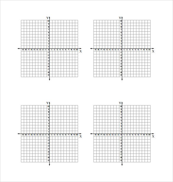 printable graph paper with axis and numbers x y axis graph