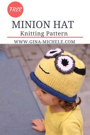 Free Knitting Pattern For This Minion Hat Hat Pinterest