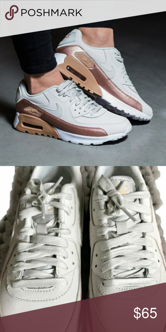 adf15159a83 Nike Air Max 90 bone and red bronze 8.5 I think they look more rose gold