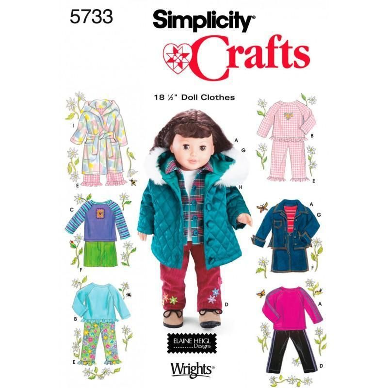 Simplicity Doll Clothes For 18 Doll-one Size | Freizeit ...