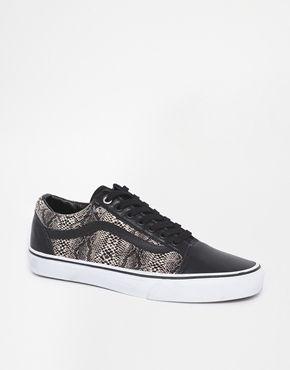 76275b97faf Vans Old Skool Snake Trainers - black on shopstyle.co.uk