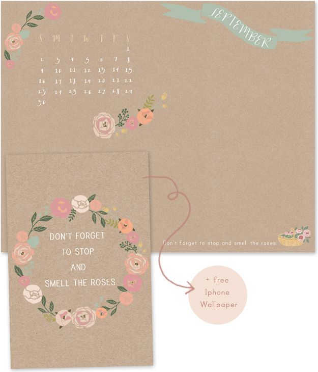 Oh the lovely things Free Desktop Calendar and Iphone Wallpaper