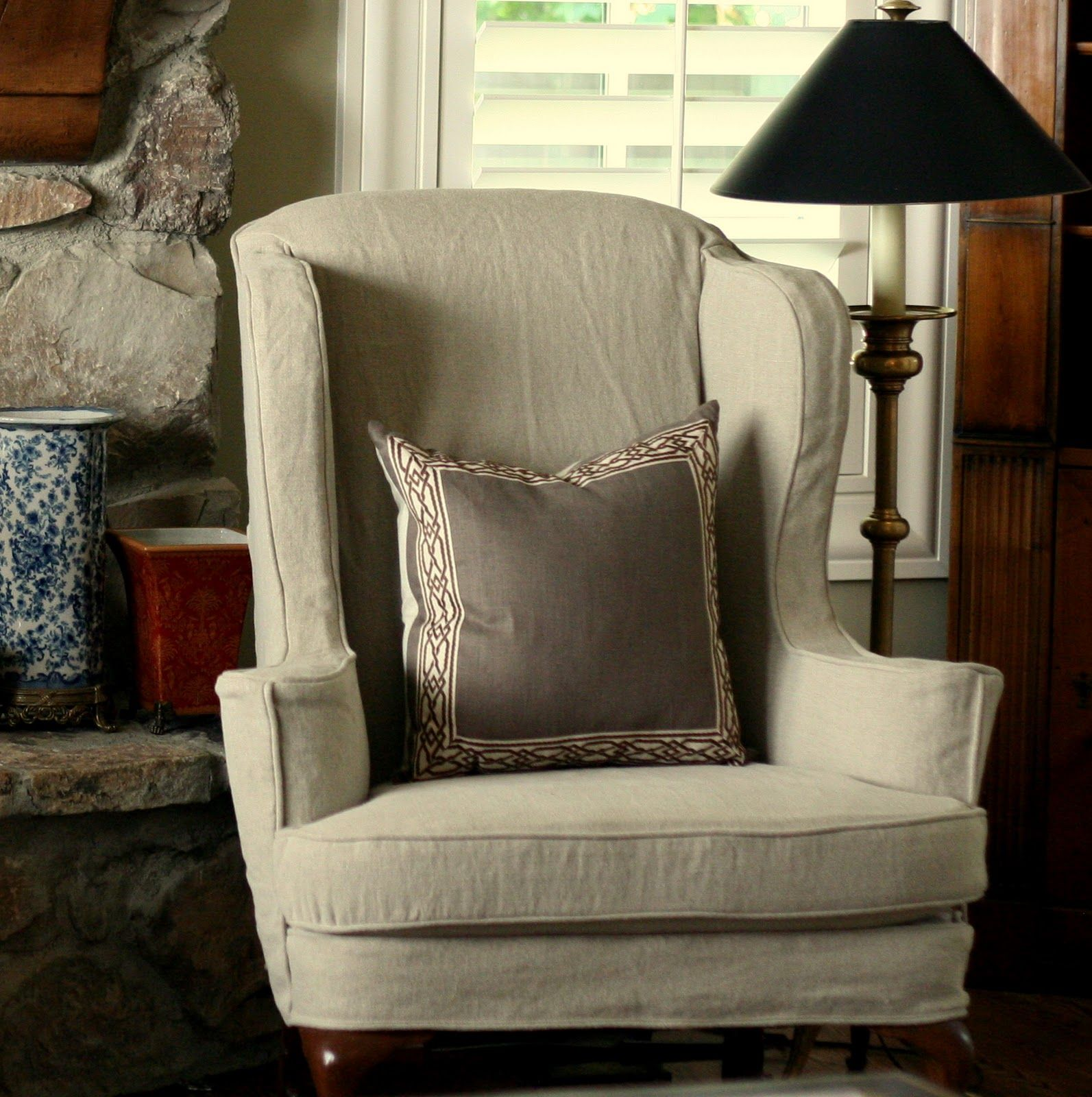 parsons to chairs slipcover parson tutorial chevron a how before chair slip make cover