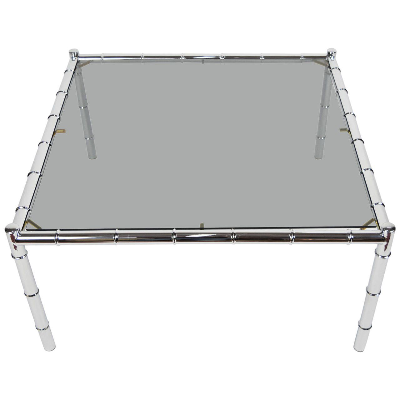 Adrian Pearsall Coffee Table in Faux Bamboo Chrome