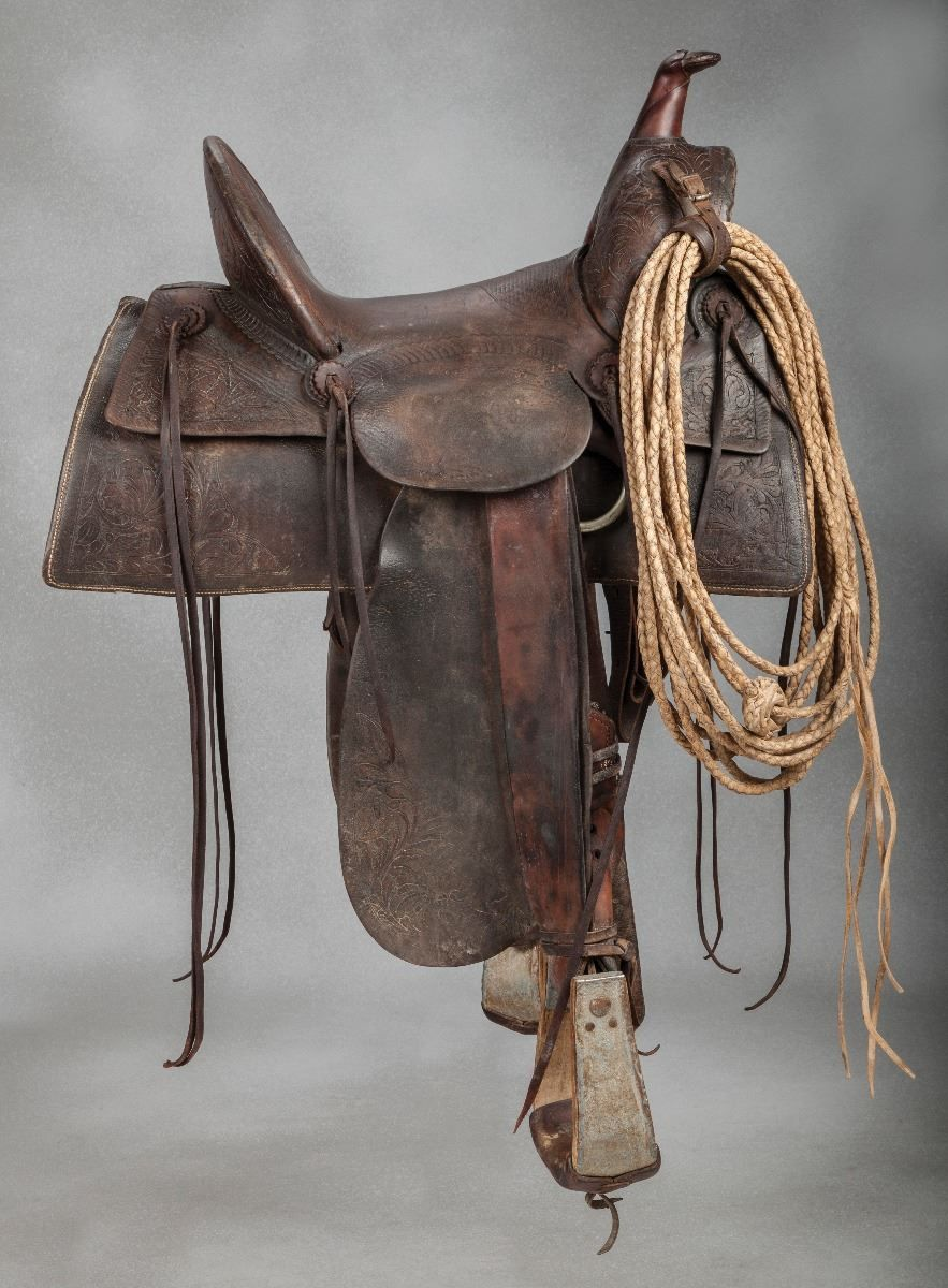 F A Meanea 15 Corner Stamped Saddle Old West Events
